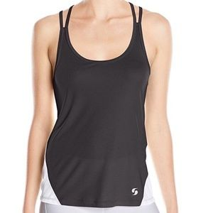 Soffe Mesh Lace Spin It Loose Athletic Tank